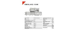 HSM HL 4812 - 15 kW Horizontal Baling Presses - Datasheet
