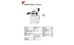HSM Powerline - Model SP 4040 V - 5.8 mm - Shredder Baler Combinations - Datasheet