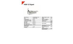 HSM 12 Gigant - Horizontal Baling Presses - Datasheet