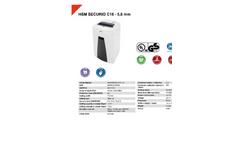 HSM Securio - Model C18 - 5.8 mm - Document Shredder - Datasheet