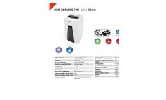 HSM Securio - Model C18 - 3.9 mm - Document Shredder - Datasheet