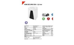 HSM Securio - Model B35 - 5.8 mm - Document Shredder - Datasheet