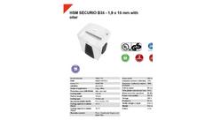 HSM Securio - Model B35 - 1.9 x 15mm - External Automatically Oiler Document Shredder - Datasheet