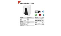 HSM Securio - Model B35 - 1 x 5mm - 1 x 5 mm Document Shredder - Datasheet