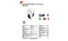 HSM Securio - Model B26 - 4.5 x 30mm - External Automatically Oiler Document Shredder - Datasheet