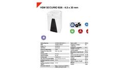 HSM Securio - Model B26 - 4.5 x 30mm - Document Shredder - Datasheet