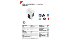 HSM Securio - Model B26 - 1.9 x 15mm - External Automatically Oiler Document Shredder - Datasheet