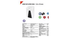 HSM Securio - Model B26 - 1.9 x 15mm - Document Shredder - Datasheet