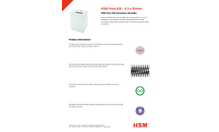 HSM Pure - Model 630 - 4.5 x 30mm - Document Shredder - Datasheet