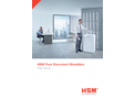 HSM Pure Document Shredders Product Overview - Brochure