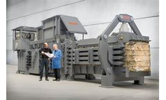 HSM - Model VK 15020 - 55+55 kW Compacting Channel Baling Presses
