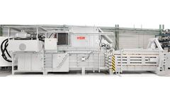 HSM - Model VK 12018 - 75 kW Frequency-Controlled Compacting Channel Baling Presses