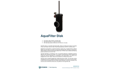 AquaFilter - Automatic Self-Cleaning Disk Filter - Datasheet