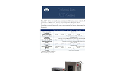 ACF Line - Small Ozone Generators Technical Sheetm Brochure