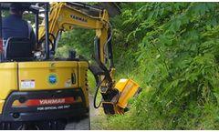 US Mower - Model EX30HD - Excavator Flail Brush Mowers