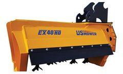 US Mower - Model EX40HD - Excavator Flail Brush Mower