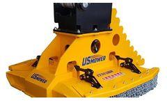 US Mower - Model EX60SHDR - Excavator Rotary Brush Mower