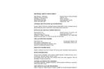 Universal SorbaSet - Technical Specs - MSDS