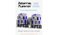 Industrial Plankton - Model PBR 2500L - Dual Algae Photobioreactor - Brochure