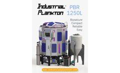 Industrial Plankton - Model PBR 1250L - Algae Photobioreactor - Brochure