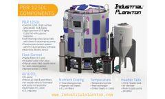 Industrial Plankton - Model PBR 1250L - Algae Photobioreactor - Technical Specifications