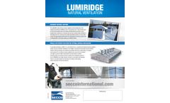 Secco - Model Lumiridge - Natural Ventilation System - Datasheet
