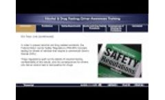 Alcohol and Drug Testing Driver Awareness Training Online Course Preview Video