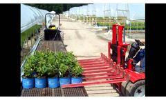 TRIKE Horticulture Forklift and Pot Forks in Nursery - Video