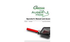 Gatco - Auger Hog - Brochure