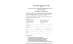 3rd Canadian National Conference and Policy Forum on Water Efficiency and Conservation - Sponsor Form Brochure (PDF 248 KB)