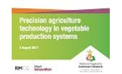 Precision Agriculture Technology in Vegetable Production Systems (Webinar Recording) Video