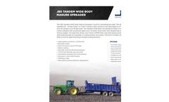 JBS - Wide Body Manure Spreader - Brochure