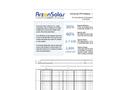 Arzon Solar - Model uModule - Universal CPV Module Datasheet
