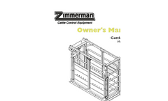 Zimmerman - Model ECC12 - Quality Cattle Chute for Beef and Dairy Farms - Manual