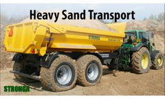 Stronga DumpLoada DL1000HP Half Pipe trailer with a John Deere tractor Video