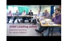 IOSH Leading Safely – Essential Learning for Senior Leaders Video