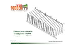FodderPro - Model 3.0 - 1,150 lbs. - Commercial Feed Module Systems Brochure