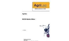 Portable Milking Systems MCR2- Brochure
