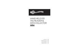 Gallagher - Model HR4 - Hand Held EID Tag Reader & Data Collector Brochure