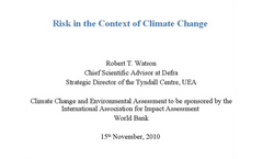 The State of Climate Science, The Role of Impact Assessment