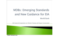 MDBs: Emerging Standards and New Guidance for EIA