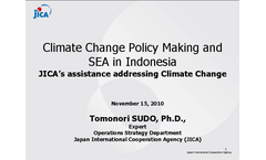Climate Change Policy Making and SEA in Indonesia