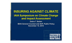 Insuring Against Climate