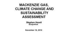 MacKenzie Valley Gas Pipeline - Sustainability Assessment