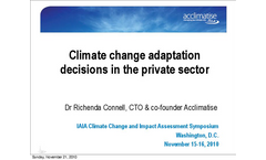 Climate Change Adaptation Decisions in the Private Sector - The Role of EIA