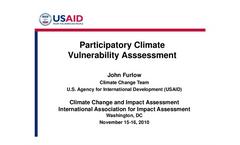 Participatory Climate Vulnerability Assessment