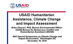 Impact of Climate Variability and Change on Vulnerable Populations