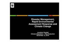 WWF Experience on Disaster Management and Climate Change