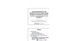 Assessing Displacement/Resettlement due to Climate Change Adaptation Projects