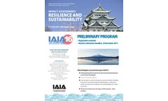 IAIA16: Resilience and Sustainability - Preliminary Program - Brochure